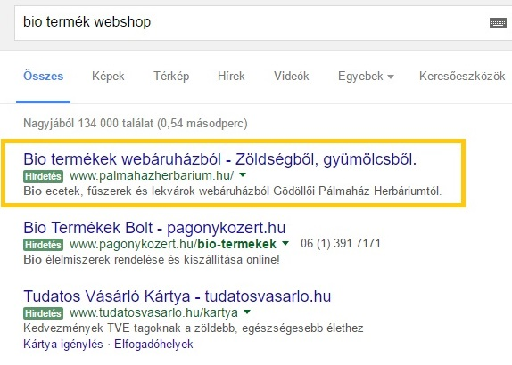 Google AdWords keresőhirdetés - keresőmarketing - Marketing21