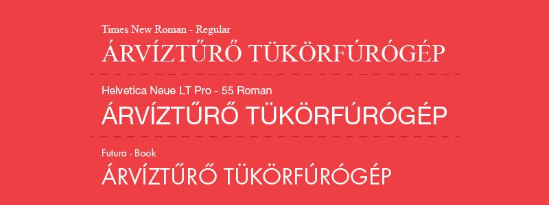 Tipográfia alapjai - Betűtípusok