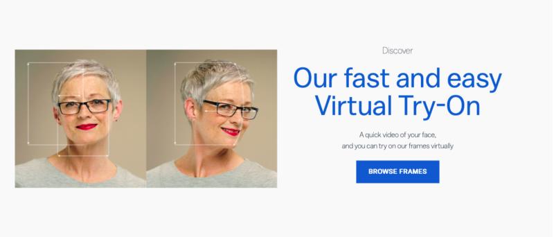 Glassesdirect AR augmented reality marketing